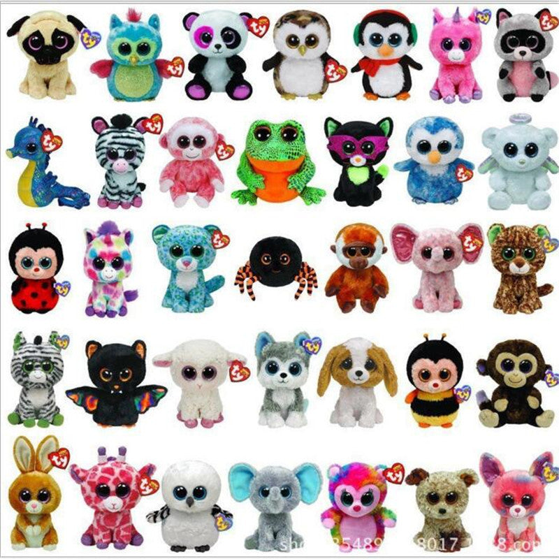 1pcs 15cm 2016 Hot Sale Ty Beanie Boos Big Eyes Husky Dog Plush Toy Doll Stuffed Animal Cute Plush Toy Kids Toy - Deals Blast