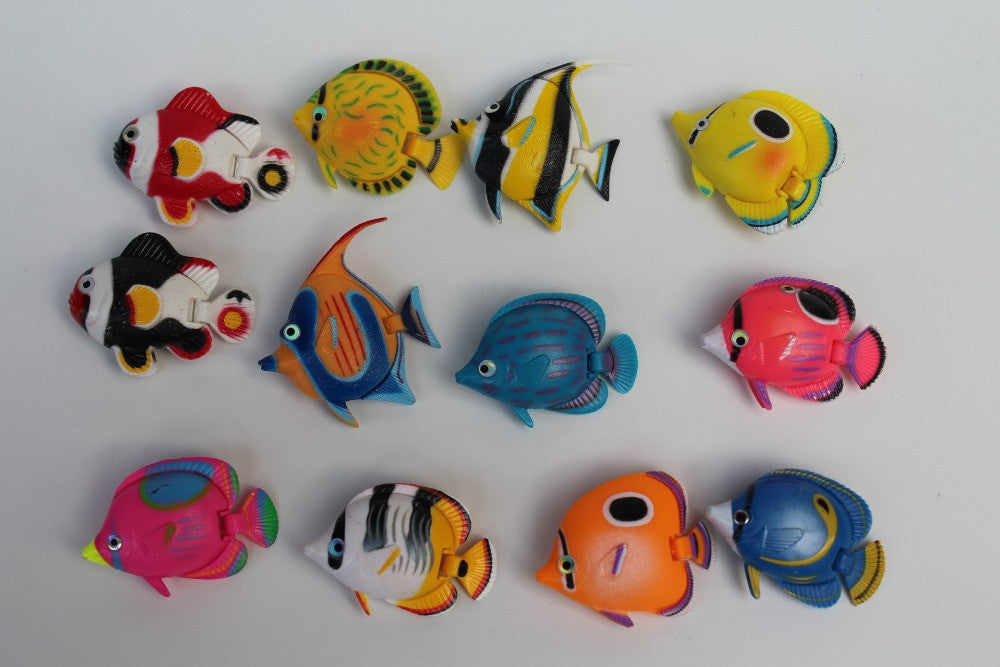10pcs Clownfish Nemo Fish of in the ocean Resin popular doll kids toys 5cm Fake Fish can swim in water Bath toy Marlin Nemo - Deals Blast