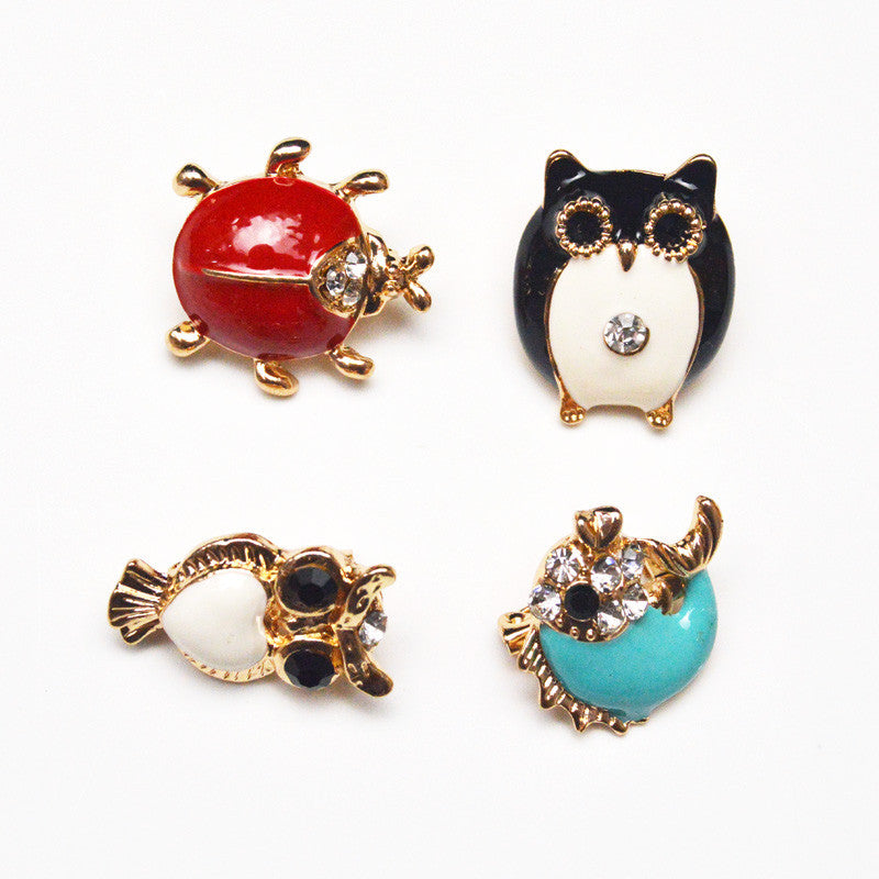 17 Style for Choose Animal Baby Brooches for Women Handbag Hat Decorations Cute Enamel Brooch Pin Fashion Jewelry Kids Gift - Deals Blast