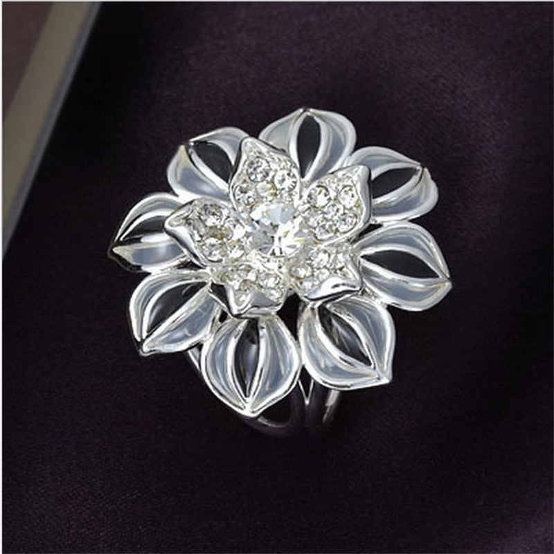 2016 Fashion Jewelry Brooches PIn For Women Rhinestone Crystal Brooch Gold Silver Enamel Brooch Scraf Flower Broches Channel Deals Blast
