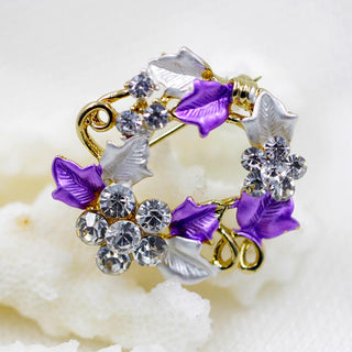 2016 New Style Flower Enamel Crystal Rhinestone Gem CZ Breastpin Pin Brooch Bouquet Deals Blast