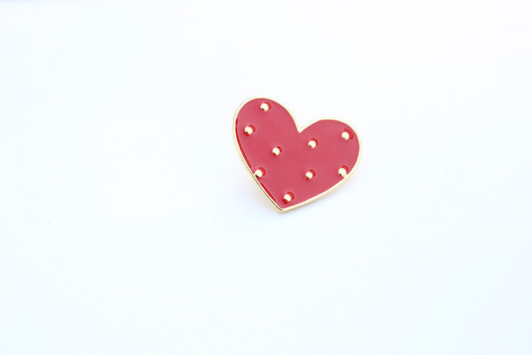 Free shipping! fashion enamel dress flower heart brooch lapel pin: Deals Blast