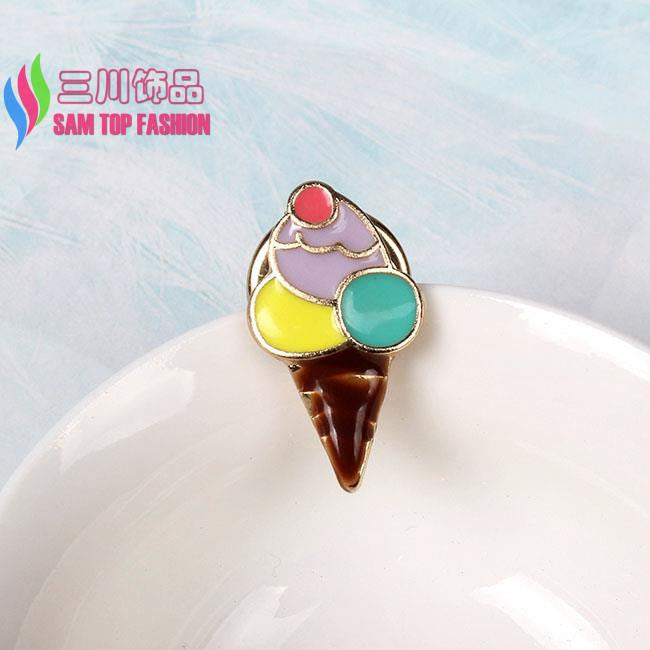 2016 Hot Cuty Brooches for Cloth Fashion Enamel Banana Drink Ice Cream Tree Women's Pins Studs Decoration for bags hats Deals Blast