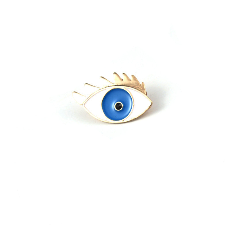 1PC Fashion Enamel Evil Eye Sey Leg Badge Brooch Pin Thermometer Lapel Pins Brooch For Women Collar Pin Christmas Gifts - Deals Blast