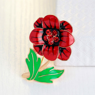 Deals Blast: Brand Factory Directly Sale Gold Plated Enamel Flower Brooch Pins for Christmas Deals Blast