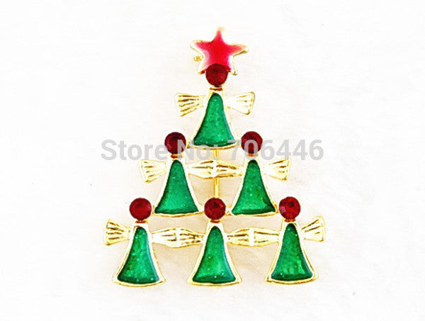 Gold tone Enamel Christmas Xmas Jewelry Pins Brooch Gifts Badge Deals Blast