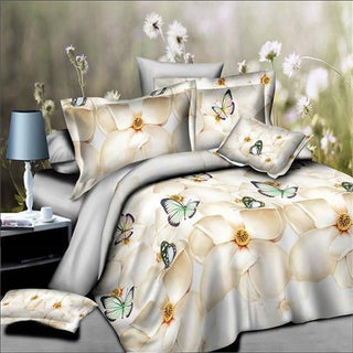 home textile 3d Chrysanthemum bedding set,Home textiles 4pc family set,Include:bed sheet,duvet cover pillowcase Deals Blast