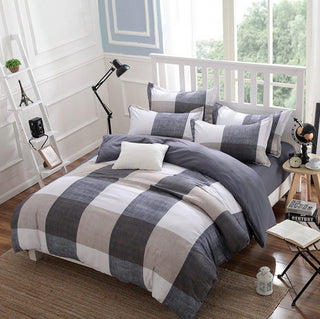 2016 Fashion Plaid bedding set Super King /King / Queen / Full/ Twin size bedding set 3Pcs/4Pcs bedding set Home Textiles Deals Blast