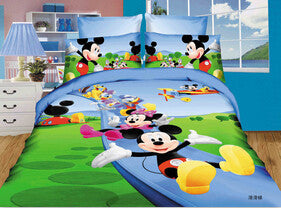 2016 children bedding set micky mouse Bedspread comforter cotton bedding sets,duvet cover,bed sheet quilt single twin full size - Deals Blast