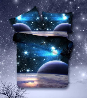 New 3d Galaxy bedding sets,constellation style real stars.Galaxy beautiful style! Duvet Cover Set,Twin/Queen Size,No quilt Deals Blast