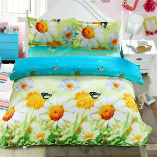 Free shipping home textile Flower 3d Lily bedding set,Home textiles 4pcs family set,Include:bed sheet,duvet cover pillowcase Deals Blast