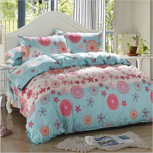 100% cotton four piece set bedding a family of four Linen quilt Set Bedclothes Set Fitted sheets high quality - Deals Blast