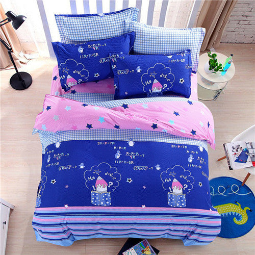 2016 fashion star Bedding setsTwin/Full/Queen size four-piece sheet beautiful Bed Sheet pillowcase Duvet Cover Deals Blast