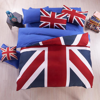 British Flag/American Flag Bedding Set High Quality Bed Linen Cartoon Bedclothes Duvet Cover Flat Sheet Pillowcase Free Shipping Deals Blast
