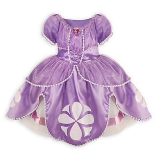 Deals Blast: 2017 Princesa Sofia Girls Dresses Kids Halloween Costumes For Girls Purple Short Sleeve Disfraz Princess Sofia Girl Party Dress Deals Blast