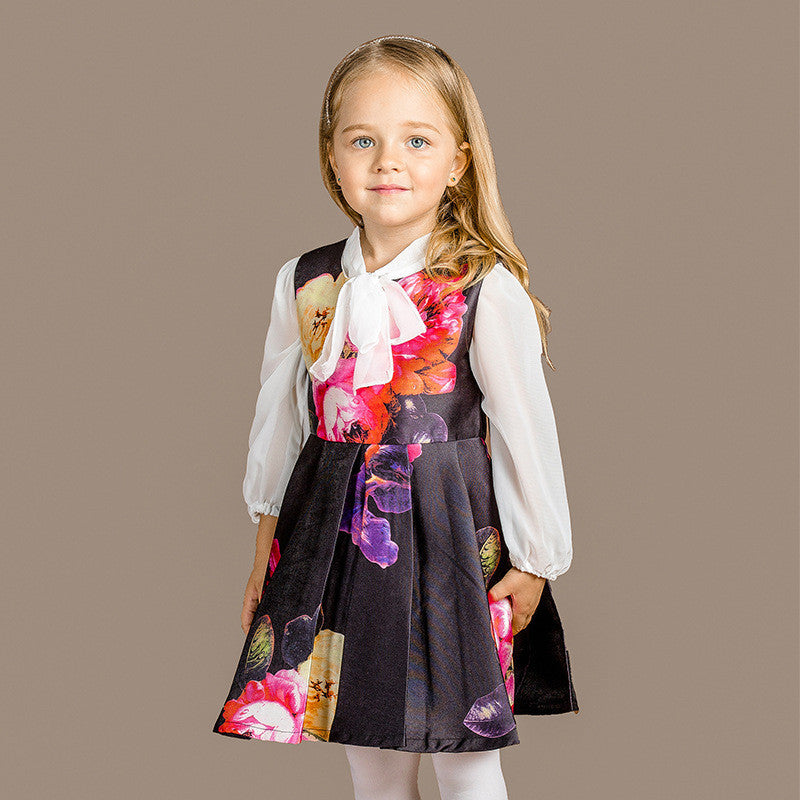 2016 Autumn European style girls dress large Children's  Princess dresses  baby girl clothes  3-10 year - Deals Blast