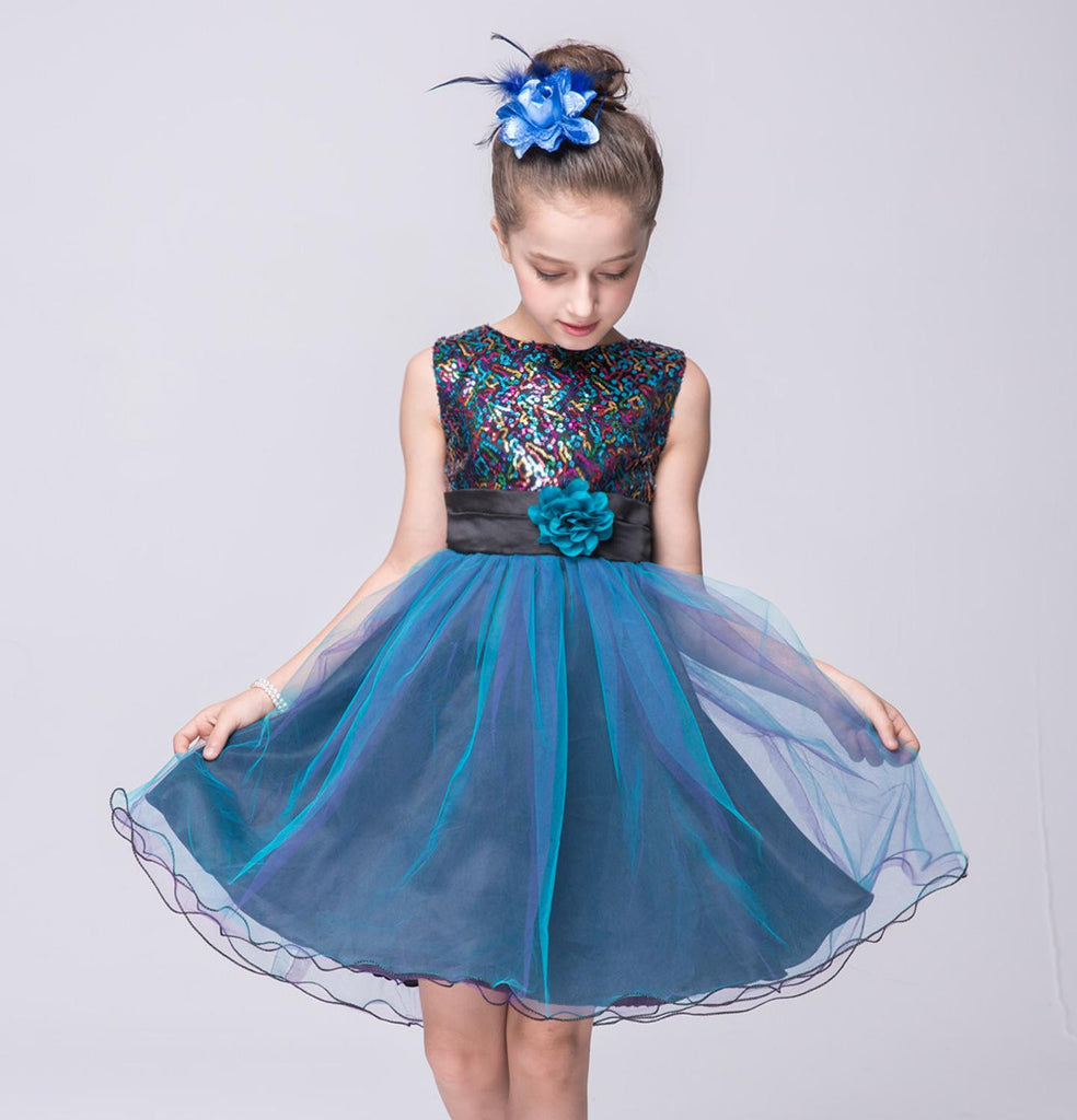 Sale 3-12Yrs Girls Dresses For Christmas Party,Children Summer Fashion