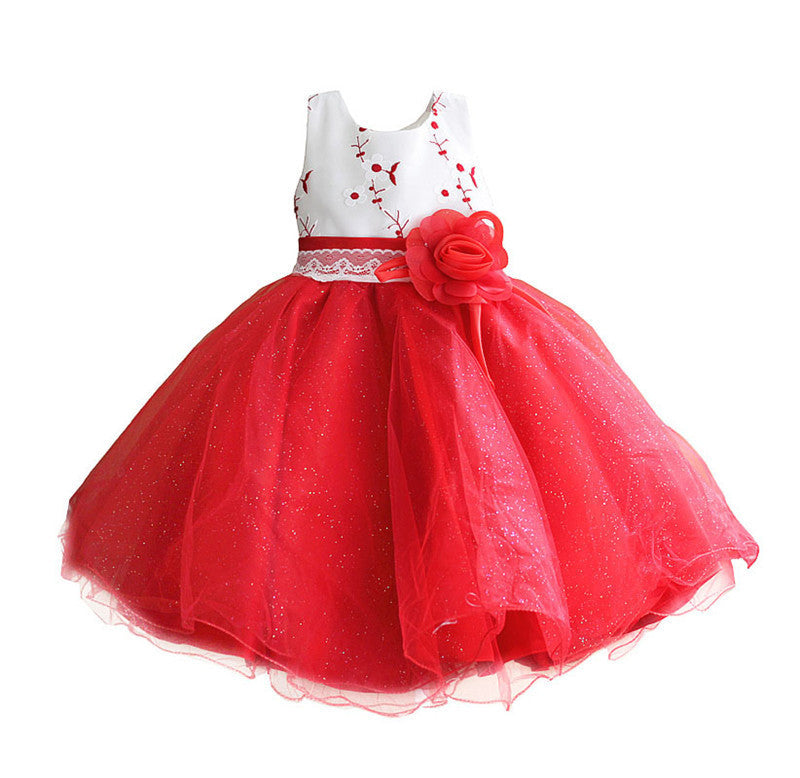 Little Girl Dress Ceremonies Party Costume Chiffon Bow Lace Flower Princess Girl Tutu Dresses For Wedding Children Kids Clothing Deals Blast
