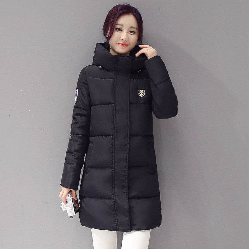 2016 Down parka women autumn winter coat down long coat winter jacket women coat Deals Blast