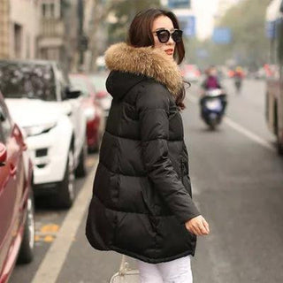 New Women Coats Jackets 2016 Parka Hooded Winter Jacket Women Fur Collar Winter Coat Women Zipper Jacket Deals Blast