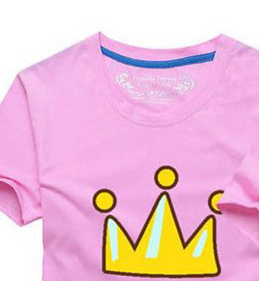 1 Piece 2016 Matching Family Clothes Mother & kids T-shirt Boys Girls Crown 14 Color T Shirt Plus Size Mom & Me Father and Son Deals Blast