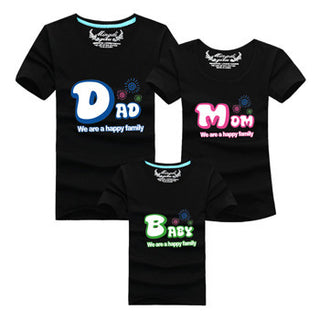 "New 2016 Casual Summer Style Brand Mother Daughter T-Shirt ""Dad"" ""Mom"" ""Baby"" Matching Family Clothes Father Son Clothes: Deals Blast"