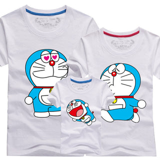New Family Look T-Shirt Cartoon Doraemon Amily Set T Shirts Matching Family Clothing Men Women Kids Large T-Shirts 4XL Men Tees - Deals Blast