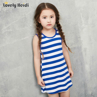 Loose Striped Family Outfits Baby Kids Girls Women Parent-Child Tops Shirt Dress For Mother and baby Deals Blast