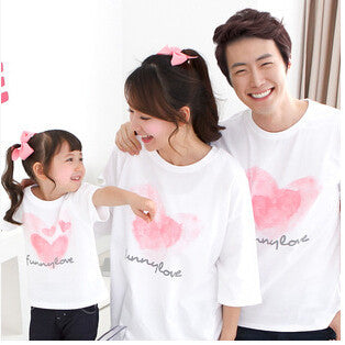 Summer Style Family Matching Outfits Couples Clothing Fashion Short Sleeve T-shirt Mother Daughter And Father Son Clothes: Deals Blast