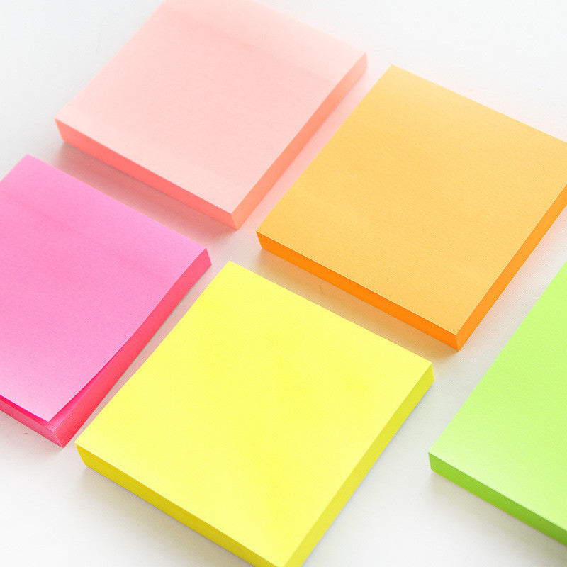 100 sheets Macaron color sticky note Portable adhesive paper post it memo pad Stationery Office accessories School supplies Deals Blast