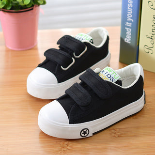 Autumn Children Solid Color Casual Canvas Shoes Boys Girls Shoes Fashion Sneakers Outdoor Sports Shoes For Kids Size 18-37 Deals Blast
