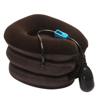 Inflatable Air Cervical Neck Traction Device Soft Massager Headache Head Back Shoulder Neck Ache Pain Relieve Relaxation Brace Deals Blast
