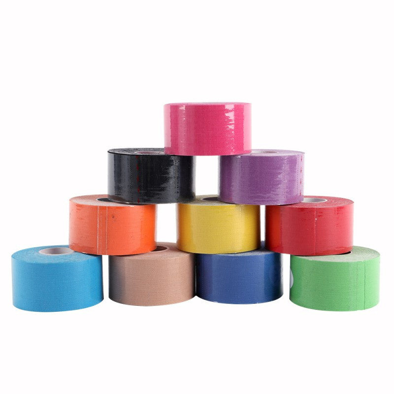 Muscle Tape 5M Sports Tape Kinesiology Tape Cotton Elastic Adhesive Muscle Bandage Care Physio Strain Injury Support 10 Colors Deals Blast
