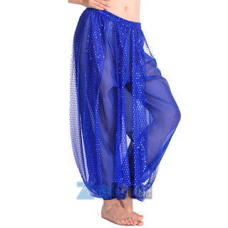New Vestidos Women's Genie Harem Pants Belly Dancing Tribal Costume Shinny Bloomers Trousers - Deals Blast