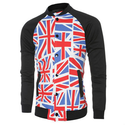 2016 Autumn Winter Men's Casual Jackets Zipper Style Printed Deals Blast