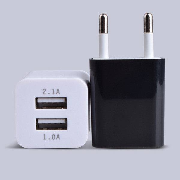 1PCS EU & US Plug 2 Ports Multiple Wall USB Charger Smart Adapter Mobile Phone Charging Data Device For iPhone iPad Samsung - Deals Blast