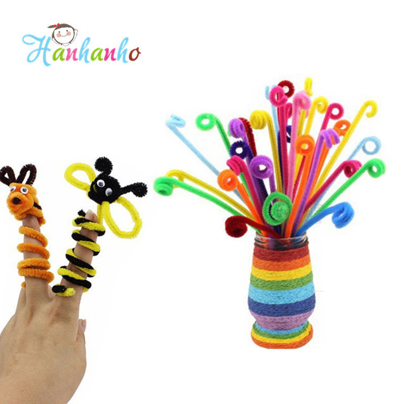 100pcs/Set Children Educational DIY  Craft Toys Materials Shilly-Stick Plush Stick Handmade Art Christmas Toys - Deals Blast