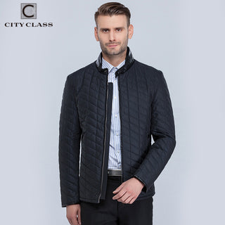 Spring And Autumn Man Casual Quilted Jacket Fashion pu Stand Collar Short Cotton Jacket Deals Blast