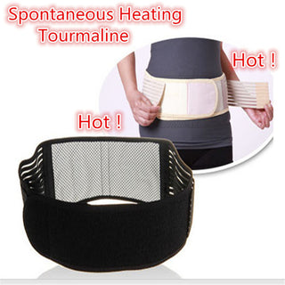 Tourmaline Waist Support Adjustable Lumbar Warmer Turmalina Belt Self-heating Magnetic Therapy Back Spontaneous Heating Brace Deals Blast
