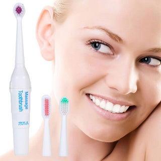 Waterproof Electric Toothbrush Family Wholesale Electric Massage Toothbrush With 3 Replaceable Head - Deals Blast