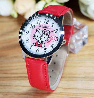 Brand Cute Hello Kitty Watch Chilren Women Fashion Crystal Dress Quartz Wristwatch For Girl: Deals Blast