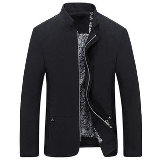 2017 Spring Autumn Men's Jacket Casual Slim Fit Solid Color Coat Zipper Stand Collar Outwear Deals Blast