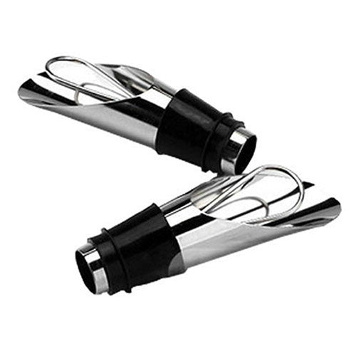 Stainless Steel Liquor Pourer Free Flow Wine Bottle Bar Tools with Stopper Set Deals Blast