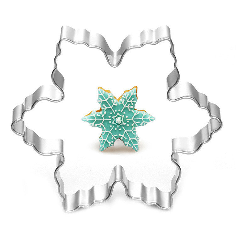 Stainless Steel Star Snowflake Biscuit Cutter Cookie Fondant Cake Icing Mold Diy Baking Tool 7.8*7.8*2cm Deals Blast
