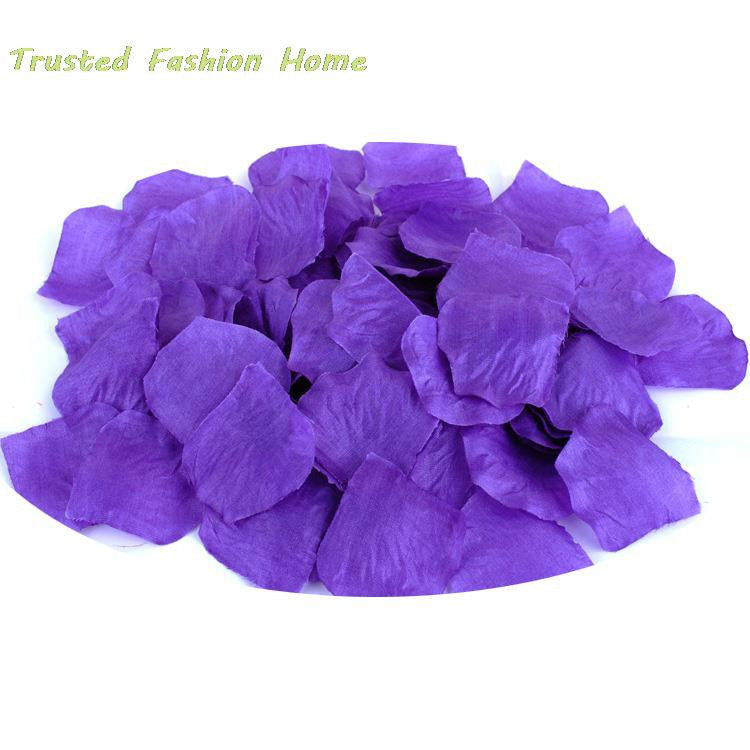 100pcs Decorative Flowers Artificial Silk Rose Flower Petals Wedding Table Decorations Party Supplies Wreaths Deals Blast