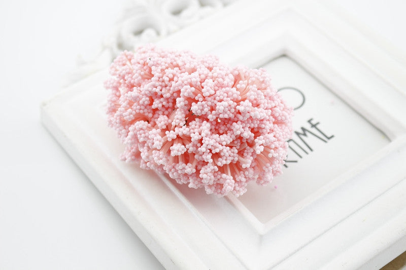 12 Pieces Mini PE Foam Pompom Artificial Flowers For Wedding Box Handmade Decoration accessories DIY Pompom Wreath Fake flowers Deals Blast