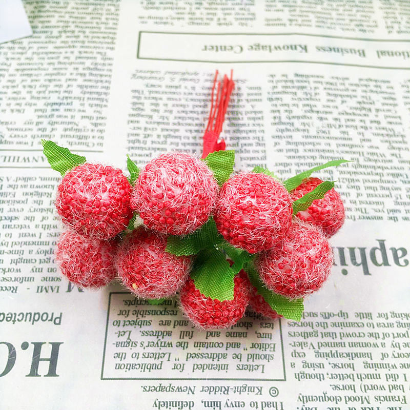 10 PCS (10 cm/beam) simulation of artificial flower bouquets of lint ball bubble/home decoration Christmas wedding DIY products Deals Blast