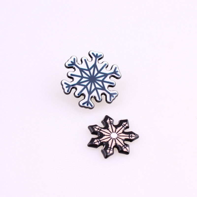 1PCS Acrylic Patches Cabochon Badges Jewelery Snowflake Clothing Badge Corsage Collars Brooches For Women Deals Blast
