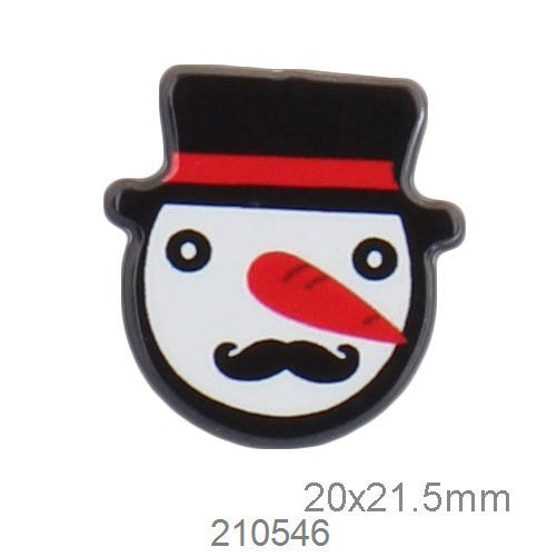 1PCS Acrylic Patches Cabochon Badges Jewelery Snowman Clothing Badge Corsage Collars Brooches For Women Deals Blast