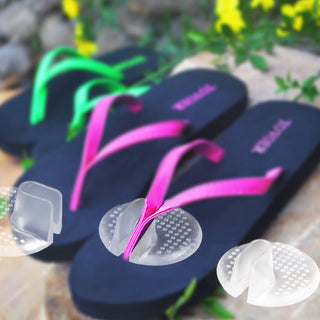 Summer Recommend Silicone transparent flip flops pad/cushion relieve pain for your foot Deals Blast